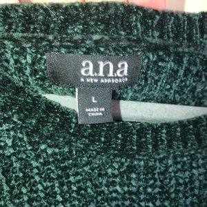 a.n.a Sweaters - ANA Green Chenille Bell-sleeved Super Soft Sweater